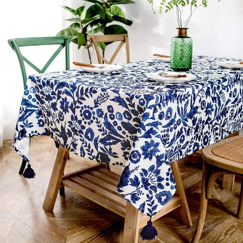 DriftAway Julia Tassel Rectangle Decorative Table Cloth