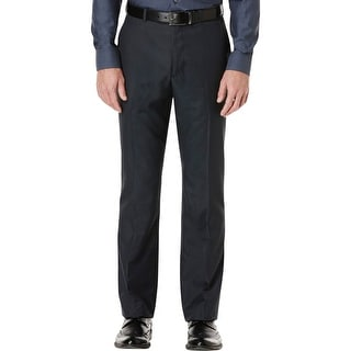 Perry Ellis Portfolio Mens Dress Pants Pattern Flat Front