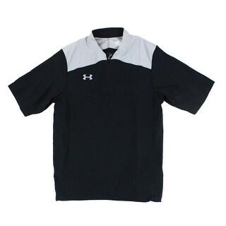 Under Armour NEW Black Grey Mens Small S Half Zip Performance Shirt