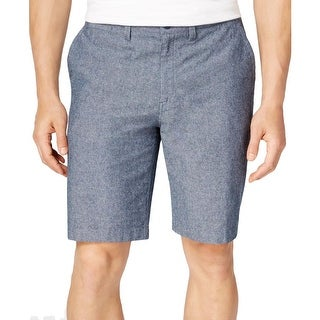 Ryan Seacrest Mens Casual Shorts Heathered Woven