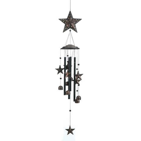 "Beautiful 34"" Bronze Stars Wind Chimes"