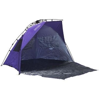 Creative Outdoors Family Size Instant Pop Up Quick Cabana Beach Tent Sun Shelter - Purple