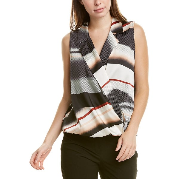 Donna Karan Surplice Top. Opens flyout.