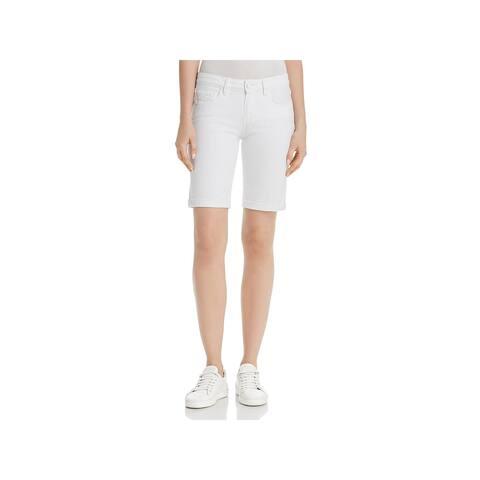 Paige Womens Jax Denim Shorts Knee Length Cuffed