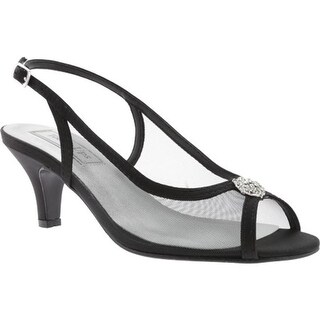 Touch Ups Women's Elite Slingback Black Satin