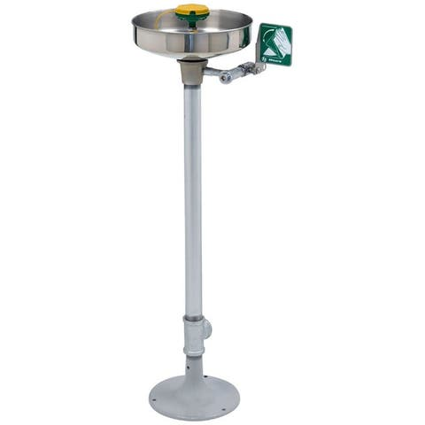 """Haws 7361-7461 Axion Floor Mounted Pedestal Eye and Face Wash with 11"""" Stainless Steel Bowl"""