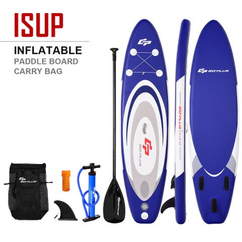 Goplus 10' Inflatable Stand up Paddle Board Surfboard SUP W/ Bag
