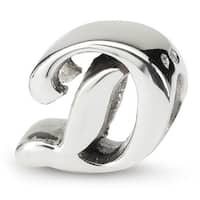 Sterling Silver Reflections Letter D Script Bead (4mm Diameter Hole)