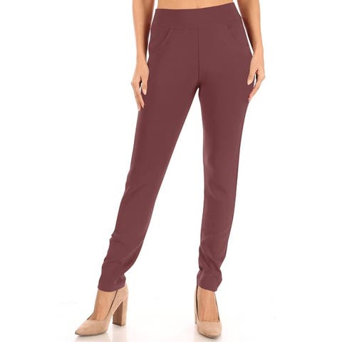 Women's Casual Solid Bottom Leggings Pants