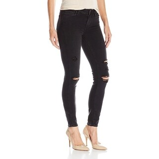 Paige Verdugo Ankle Destructed Mid Rise Ultra Skinny Jeans Pants
