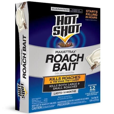 Hot Shot HG-2030W MaxAttrax Roach Bait, 12-Count