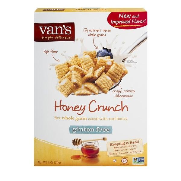 Van's Natural Foods Gluten Free Cereals - Honey Crunch - Case of 6 - 11 oz.