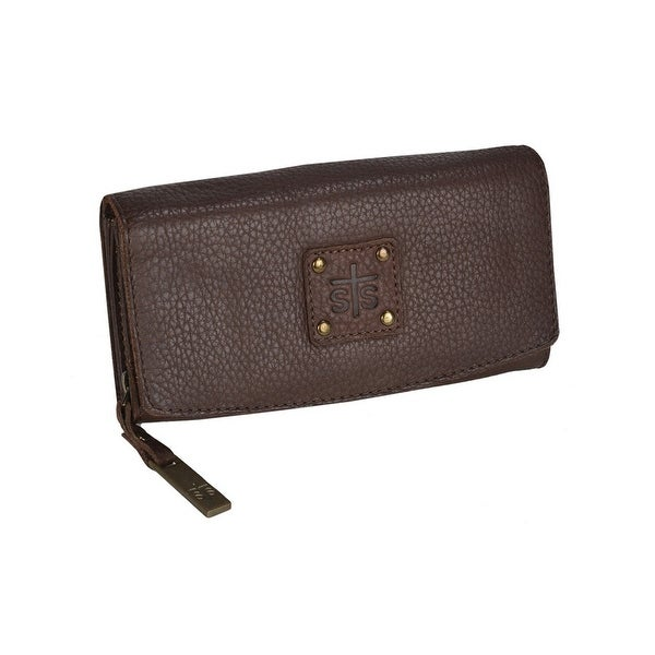 STS Ranchwear Western Wallet Women Leather Snap O/S Chocolate - One size