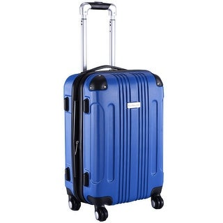 GLOBALWAY Expandable 20'' ABS Luggage Carry on Travel Bag Trolley Suitcase Blue