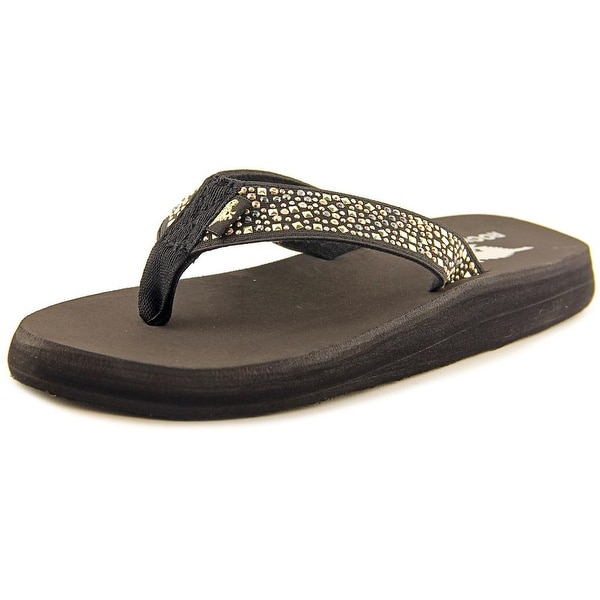 Rocket Dog Nina 2 Women Open Toe Canvas Black Thong Sandal