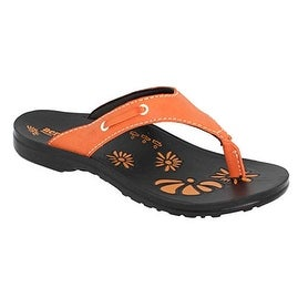 Aerosoft Womens Sandal, Orange, 7