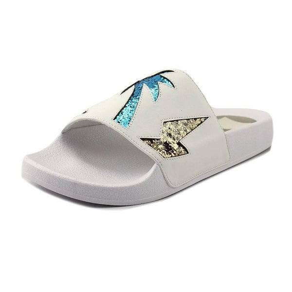 Dolce Vita Traci Women Open Toe Canvas Multi Color Slides Sandal