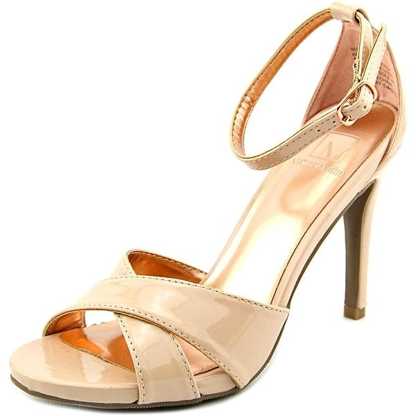 Material Girl Womens Sara Peep Toe Special Occasion Ankle Strap Sandals