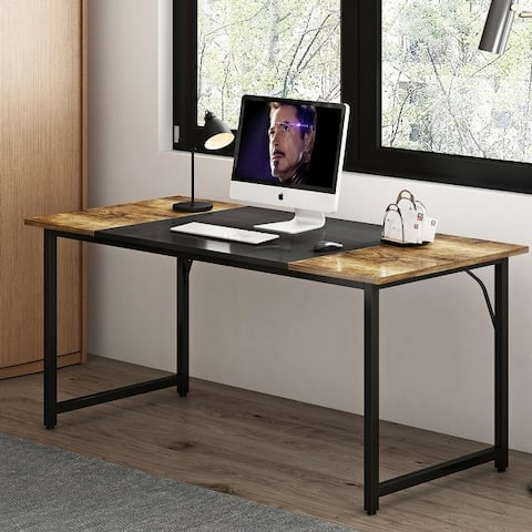Metal Frame Home Office Writing Desk
