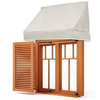 Gymax Window Awning Door Canopy Sun Rain Shade Shelter Beige