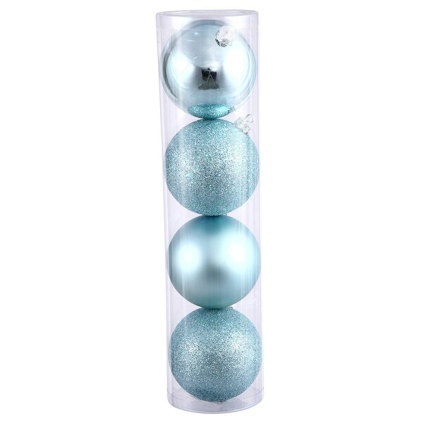 "2.75"" Baby Blue 4 Finish Orn Asst 20/Box"