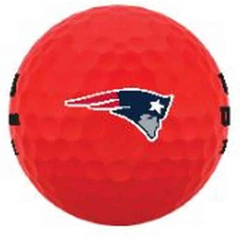 Wilson Duo Soft NFL Football Golf Balls (12 Balls) New England Patriots Red - Standard