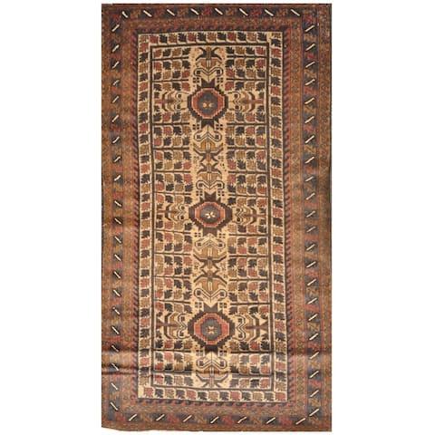 Handmade One-Of-A-Kind Tribal Balouchi Wool Rug (Afghanistan) - 3'5 x 6'5