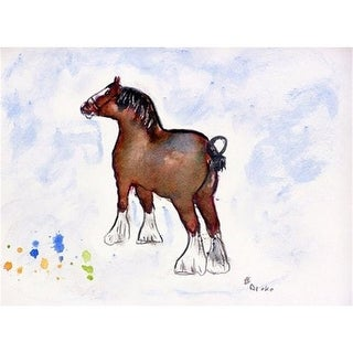 Betsy Drake DM936 Clydesdale Doormat 18 x 26