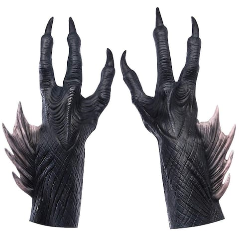 DC Aquaman Movie Trench Person Adult Latex Hands - Black
