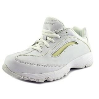 New Balance KC640 Youth EW Round Toe Leather White Walking Shoe