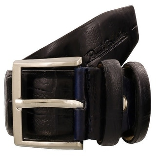 Renato Balestra W226 BLU Navy Blue Leather Mens Belt