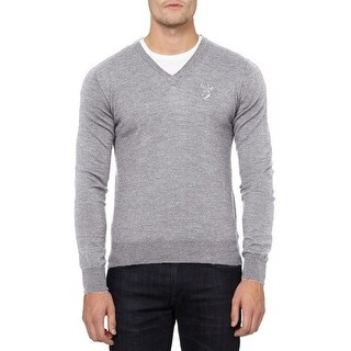 Versace Collection Gray Wool Sweater