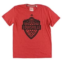 Adidas Mens Louisville Crest T Shirt Red - Red/black - m