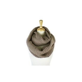 Womens Thick Knit Winter Infinity Circle Loop Scarf