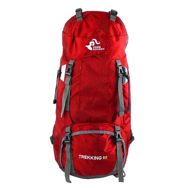 FreeKnight Authorized Outdoor Camping Bag Trekking Hiking Backpack Red 60L