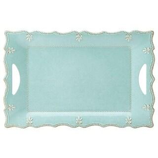 18.5 in. French Perle Melamine DW Large Rectangular Platter,