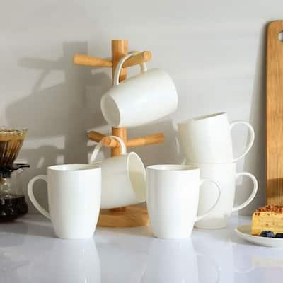 Panbado Blanc White Porcelain Mugs Set of 6