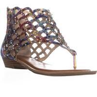 ZIGI Melaa Rhinestone Gladiator Sandals, Pink Multi