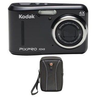 KODAK PIXPRO FZ43 Friendly Zoom Digital Camera (Black) w/ Case