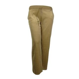Michael Kors Women's Velour Fashion Drawstring Lounge Pants