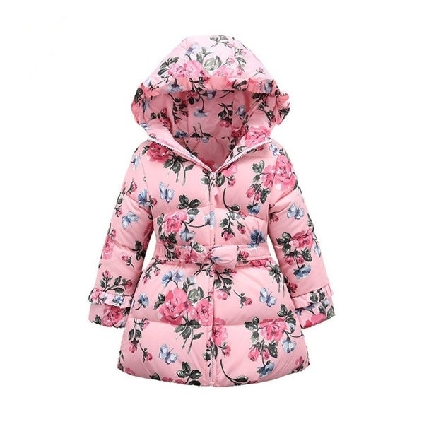aa38e82fb Shop 2015 Girls winter Jackets Down   Parkas cotton flowers thick ...