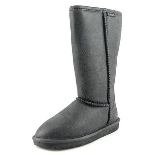 Bearpaw Emma Tall Women  Round Toe Suede Black Winter Boot