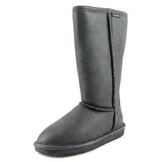 Bearpaw Emma Tall Women Round Toe Suede Black Winter Boot