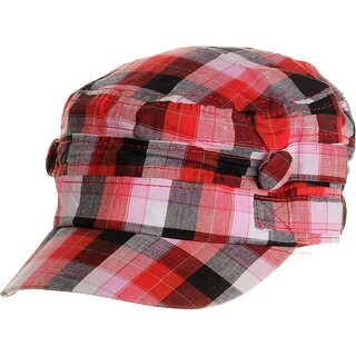 Womens Plaid Summer Cadet Cap