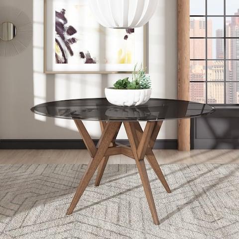 Sheeba Round Walnut Dining Table by iNSPIRE Q Modern