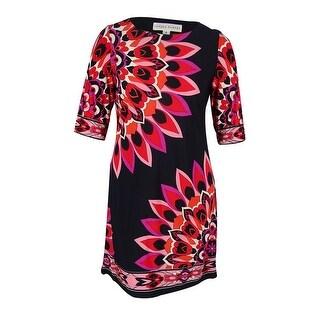 Sandra Darren Women's 3/4 Sleeve Floral Print Shift Dress - 12