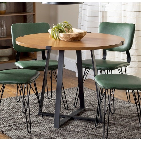 Carbon Loft Kenyon 40-inch Round Metal Wrap Dining Table. Opens flyout.