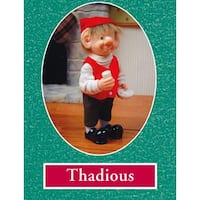 "7.5"" Zims The Elves Themselves Thadious Collectible Christmas Elf Figure"