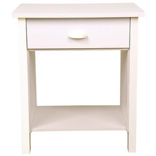 Venture Horizon 24.75 x 21.25 x 16 in. Nouvelle Nightstand - White