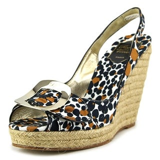 Roger Vivier Cordella Women Open Toe Canvas Multi Color Wedge Heel